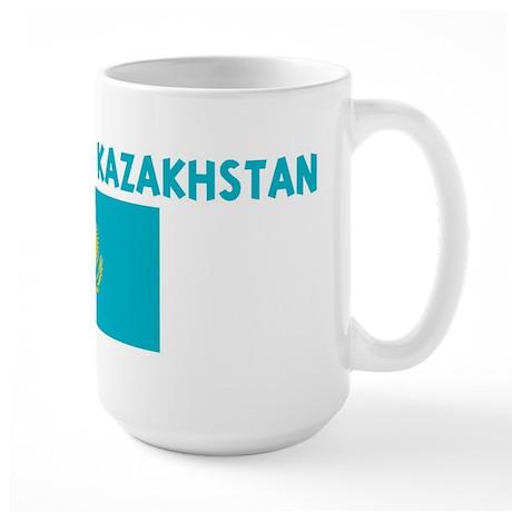 I WAS BORN IN KAZAKHSTAN Large Mug
