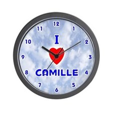 I Love Camille (Blue) Valentine Wall Clock