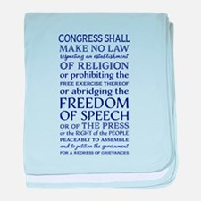 Freedom of Speech First Amendment baby blanket