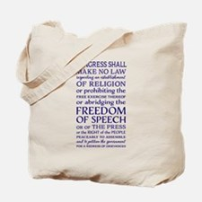 Freedom of Speech First Amendment Tote Bag