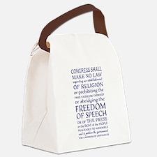 Freedom of Speech First Amendment Canvas Lunch Bag