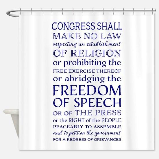 Freedom of Speech First Amendment Shower Curtain