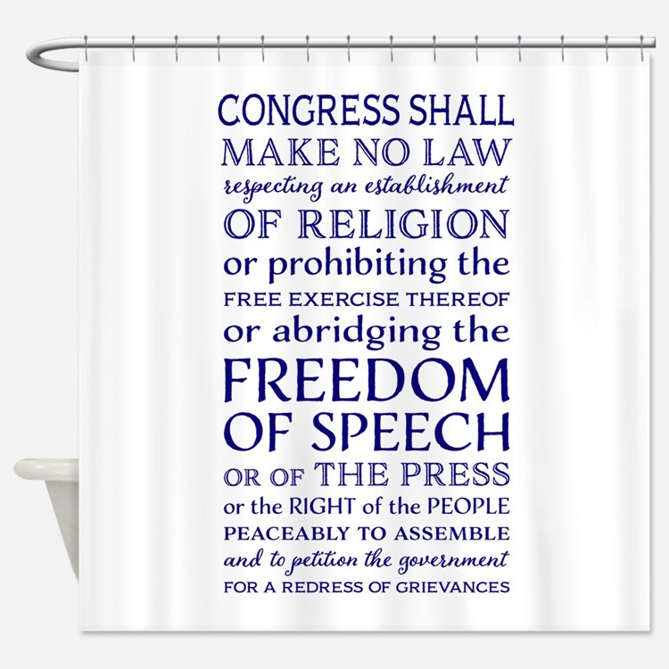 Freedom of Speech First Amendment Shower Curtain