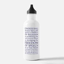 Freedom of Speech Firs Water Bottle