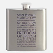 Freedom of Speech First Amendment Flask