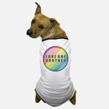 Love One Another Rainbow Dog T-Shirt