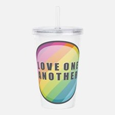 Love One Another Rainb Acrylic Double-wall Tumbler