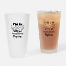 I Am In Love With American kickboxi Drinking Glass