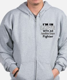 I Am In Love With American Kenpo Fighte Zip Hoodie