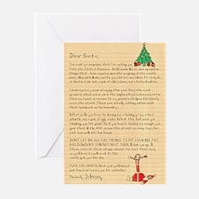 Dear Santa Funny Christmas Card Greeting Cards