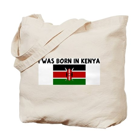 I WAS BORN IN KENYA Tote Bag
