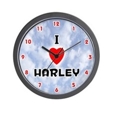 I Love Harley (Red/Blk) Valentine Wall Clock