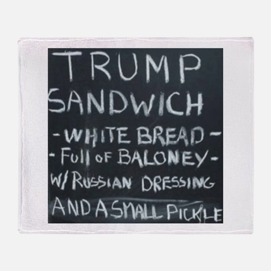 Trump Sandwich Throw Blanket