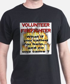 Volunteer Firefighter Ash Grey T-Shirt