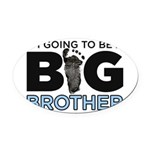 Im Going To Be A Big Brother Oval Car Magnet