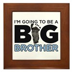Im Going To Be A Big Brother Framed Tile