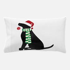 Christmas Black Lab Holiday Dog Pillow Case