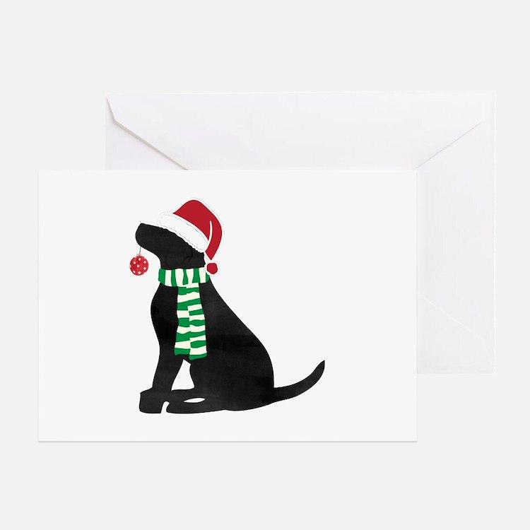 Christmas Black Lab Holiday Dog Greeting Cards