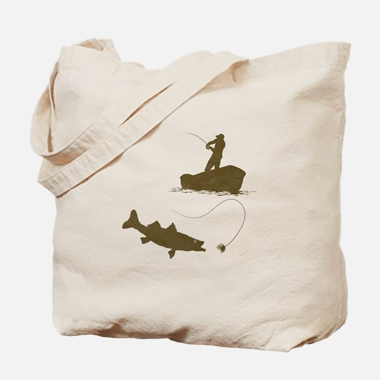 Boat Fishing Tote Bag