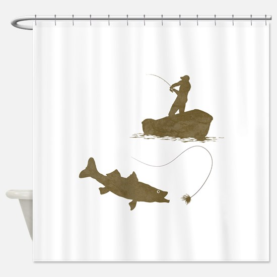 Boat Fishing Shower Curtain