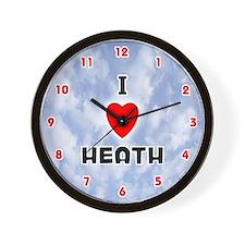 I Love Heath (Red/Blk) Valentine Wall Clock