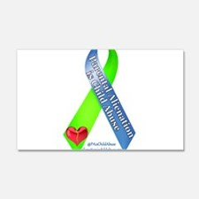 Parental Alienation Awareness Ribbon -White Wall D