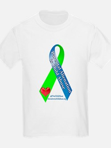 Parental Alienation Awareness Ribbon -White T-Shir