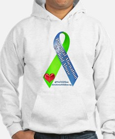 Parental Alienation Awareness Ribbon -White Sweats