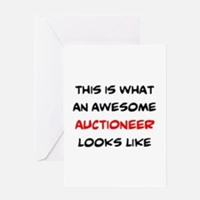 awesome auctioneer Greeting Card