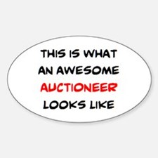 awesome auctioneer Sticker (Oval)