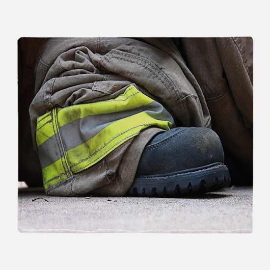 Fire Fighter Throw Blanket
