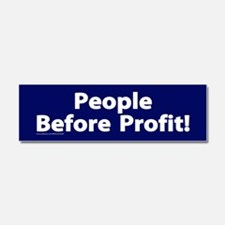 People before profit Car Magnet 10 x 3