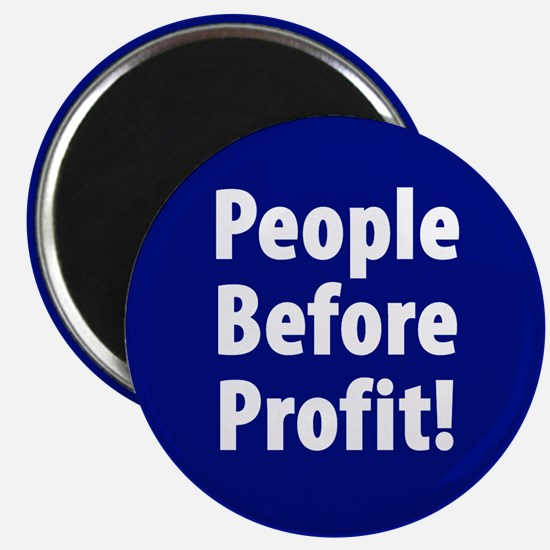 People Before Profit! Magnet