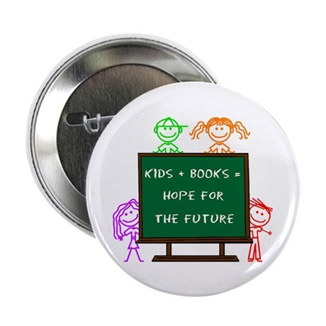 """Kids + Books 2.25"""" Button (10 pack)"""