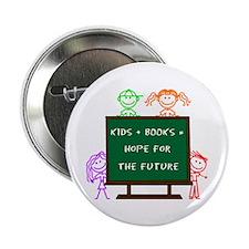 "Kids + Books 2.25"" Button"
