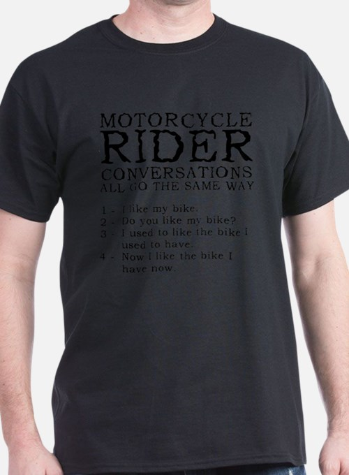 Motorcycle Rider Conversations Funny T-Shirt