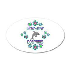 Peace Love Dolphins Wall Decal
