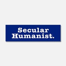 Secular Humanist Sticker.png Car Magnet 10 x 3