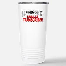 Unique Braille Travel Mug