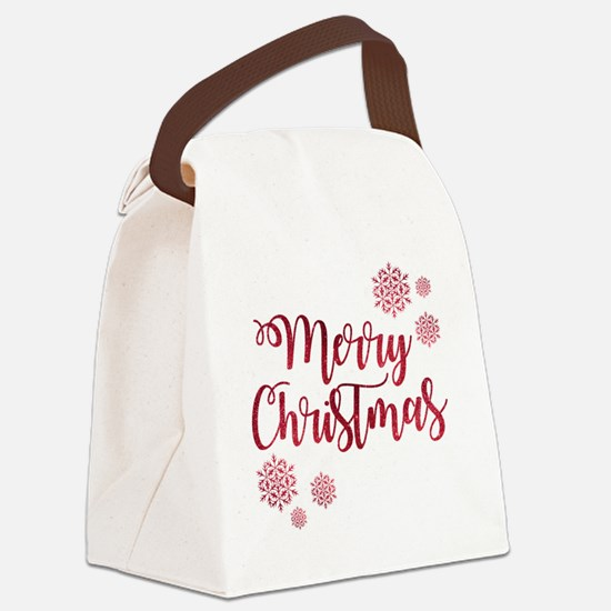 Funny Merry christmas Canvas Lunch Bag