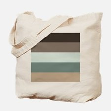 Sage Espresso brown Stripes Tote Bag
