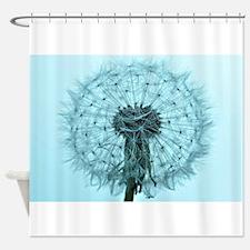 Blue Dandelion Shower Curtains Blue Dandelion Fabric Shower