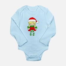 Blonde Elf Girl Long Sleeve Infant Bodysuit