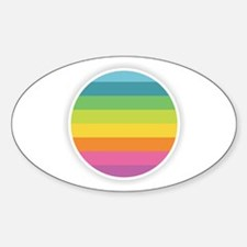 Rainbow Circle Decal