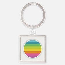 Rainbow Circle Keychains