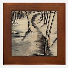 Poplar Woods By Cassandra Gullicks Framed Tile