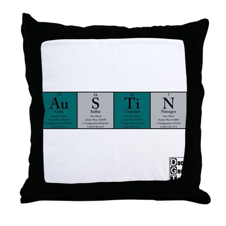 Au S Ti N Colored Throw Pillow