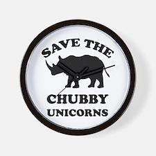 Save the chubby unicorns t-shirt Wall Clock