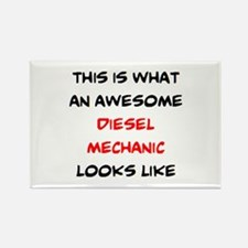 awesome diesel mechanic Rectangle Magnet