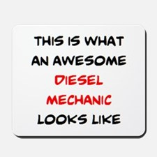awesome diesel mechanic Mousepad